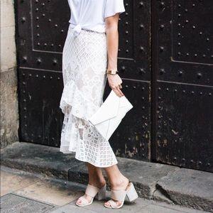 Chelsea28 |  Lace Ruffle Midi Skirt